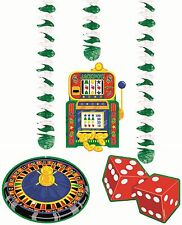Casino Themed Danglers 3pcs Hanging Decorations Dangling Cutouts Party Supplies