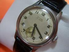 COLLECTIBLE 40'S SWISS CYMA WATERSPORT MANUAL MILITARY STYLE DIAL          #2815