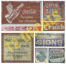 O Scale Ghost Sign Decals #17 - Great for Weathering Structures!