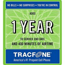 TRACFONE 400 MINUTES ONE YEAR SERVICE REFILL PIN