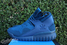 ADIDAS TUBULAR X PK SZ 8.5 TECH STEEL BLUE CORE BLACK PRIMEKNIT S80131