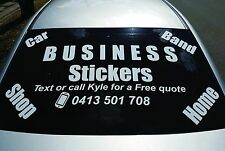 Business car Shop Front stickers 1200 x 460 mm logo work sign custom made new