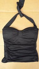 Women's Tommy Black Tankini Top Swimming Pool Size XS style # TSW73411T