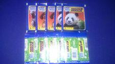 50 UNOPENED STICKER PACKS ANIMAL WORLD PANINI