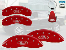 2010-2011 Ford F-150 Logo Red Brake Caliper Covers Front Rear INSTOCK + Keychain