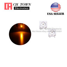 100pcs 5mm Yellow Light Piranha Super Flux Round Top LED Diodes Ultra Bright USA