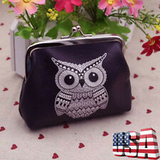 Cute Women Leather Owl Zipper Wallet Girls Clutch Card Coin Holder Purse Handbag