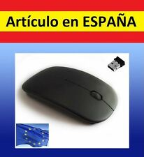 RATON OPTICO NEGRO por usb WIRELESS para ordenador apple mac gadget pc mouse