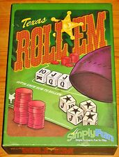TEXAS ROLL'EM Dice Game SimplyFun 100%COMPLETE/GOOD/FREE SHIPPING Liar's Hold'em