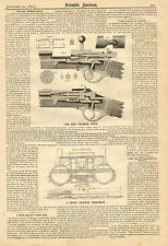 The New Prussian Rifle, Bolt Action, Vintage, 1873 Antique Print. w/ Text,