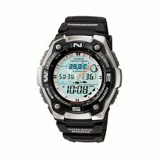 Casio AQW101-1A Mens Active Dial Sports Watch Fishing Moon Data Thermometer NEW