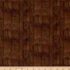 "Digital Print  Sonoma Country Wine Wood Slat  100% cotton 43"" fabric by the yard"