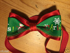 Christmas bow tie for cats and dogs Adjustable to fit most pets NEW perfect