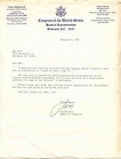 South Dakota: Tom Daschle - 1982, signed on letterhead!