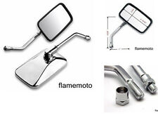 CHROME RECTANGLE SIDE MIRRORS FOR HONDA MOTORCYCLE CRUISER SCOOTER SHADOW REBEL
