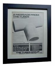 THE TUBES+Completion Principle+POSTER+AD+ORIGINAL 1981+FRAMED+FAST GLOBAL SHIP