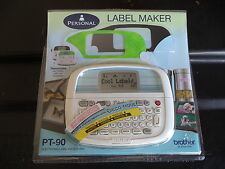 Brother PT-90 Label Maker Labeler PT90   One Year Warranty   BRAND NEW