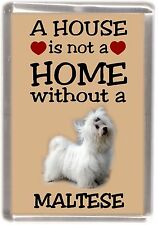 "Maltese Terrier Dog Fridge Magnet ""A HOUSE IS NOT A HOME"" by Starprint"