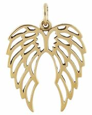 Angel Wings Pendant - Natural Bronze - Fantasy Angels Wing Lacy Filigree NEW