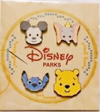 Disney Cross Stitch Effect 4 Pin Booster Set -New on Card-Sealed