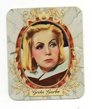 Greta Garbo 1934 Garbaty Film Star Series 1 Embossed Cigarette Card #10