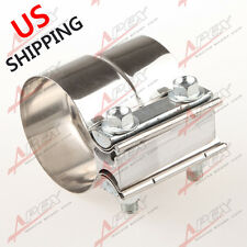 "2.5"" Stainless Steel Torctite Exhaust Band Clamp Step Clamps Lap Joint US"