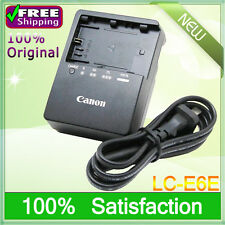 Genuine Original Canon LC-E6E LC-E6 Charger for LP-E6 Battery EOS 60D 70D 6D