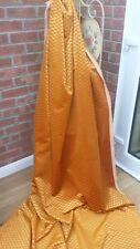 220cm GOLD patterned DESIGNER VELVET Curtain / Upholstery fabric