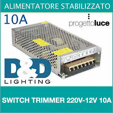ALIMENTATORE STABILIZZATO SWITCH TRIMMER 220V-12V 10A