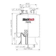 """BlackTech Air Springs W01-358-9370 / 1R12-580 """"Best Warranty"""""""