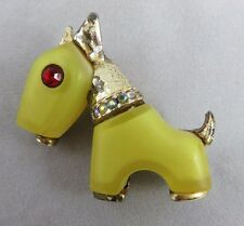 Vintage Hattie Carneghie - Primitives on Parade - Terrier Dog - Pin / Brooch