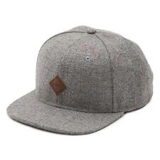 Vans Off The Wall Avery Gray Speck Wool Blend Adjustable Snapback Hat Mens NWT