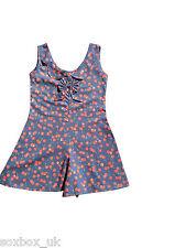 Girls Pretty Little Fairy pagliaccetto Navy Blue Cherry taglia S 2-3 anni lf44