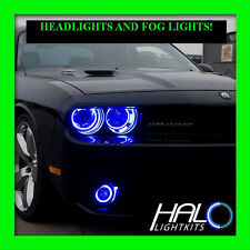 2008-2014 DODGE CHALLENGER BLUE PLASMA HALO HEADLIGHT+FOG LIGHT KIT by ORACLE