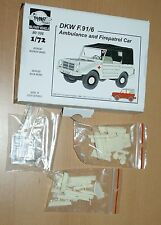 DKW F.91P6 Ambulance and Firepatrol Car in 1/72 von Planet
