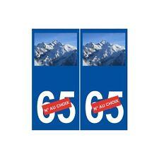 Mont Blanc sticker numéro au choix autocollant plaque arrondis