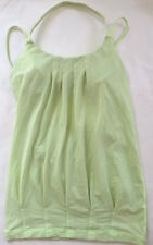 LULULEMON Flow and Go Tank Top size 4 Faded Zap Yellow Green EUC Yoga Gym Spin