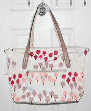 Cole Haan Parker Nylon Tote Bag Zip Top Shopper  Carerra Country Print