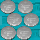 6 NEW PANASONIC CR2032 ECR 2032 3v Lithium Batteries Exp.2025 CR 2032