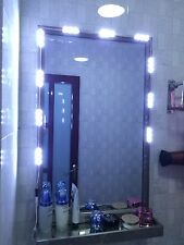 5ft LED white Dressing Mirror Lighted Cosmetic Makeup Vanity light+Dimmer+power