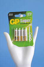 GP Super Battterie Alkaline Battery AAA Micro LR 03 Power Batterien 4er Pack