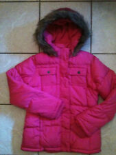 Frost Free Jacket Fur Winter Coat Fleece lined Puffer Parka Girl XL 14 fit 10-12