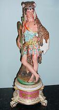 "RARE 19th Ct. HUNTER OLD PARIS FIGURINE JACOB PETIT?  GORGEOUS! 19 1/4"" TALL"