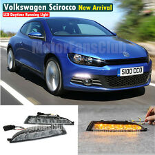 LED Daytime Running Light DRL Fog Lamp For VW Volkswagen Scirocco Turn Signal
