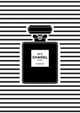 CHANEL NO 5 PERFUME  ART IMAGE A4 Poster Gloss Print Laminated