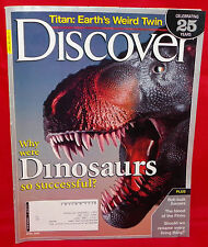 Discover Magazine Vol. 26 #4 April 2005 Dinosaurs Celebrating 25 Years Issue #4