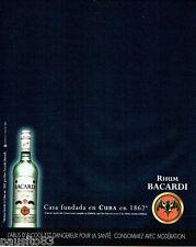 PUBLICITE ADVERTISING 056  2003  le rum Bacardi  de Cuba