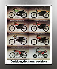 VINTAGE KAWASAKI DECISIONS IMAGE BANNER NOS IMAGE REPRODUCTION