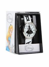 DISNEY ALICE IN WONDERLAND SILHOUETTE WATCH RUBBER ADJUSTABLE STRAP NEW WHITE!