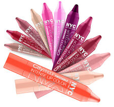 NYC CITY PROOF TWISTABLE INTENSE LIP COLOUR CRAYON WHOLESALE JOBLOT (PACK OF 12)